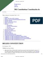 Belize _ Belice_ Constitution 1981