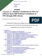 Colombia_ Constitución de 1991, con Reformas hasta 2005