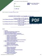 Nicaragua_ 1987 Constitución con reformas de 1995, 2000 y 2005