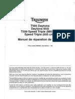 Manuel de réparation Daytona T595, Speed Triple T509 et Speed Triple 955i