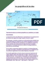 Aspectos geográficos de las islas Malvinas - Toponimia
