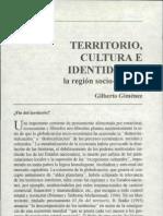 Gilberto Gimenz - Territorio Cultura e Identidades
