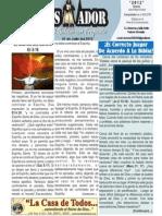 """2012-07-01 """"EL CONQUISTADOR"""" Boletín Semanal de La casa de Todos"""