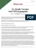 The CIA, Deadly Vaccines and GWS Propaganda