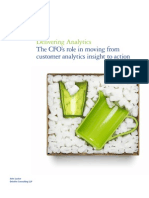 Delivering Analytics The CFO's role in moving from customer analytics insight to action