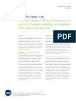 Healthy operations:Deloitte infuses a Federal Governmentagency's business intelligence solutionswith advanced analytics