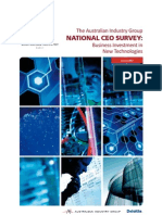 The Australian Industry Group national CEO survey