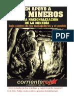 Corriente Roja en Apoyo a La Lucha Minera