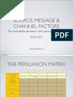 Source Message & Channel Factors