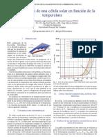 Caracterización de una Célula Solar en Función de la Temperatura