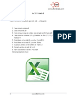 Actividad 1 Excel 2010