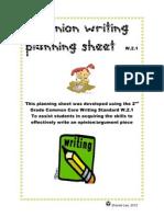 Opinion Writing Planning Sheet W.2.1