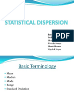 Statistical Dispersion