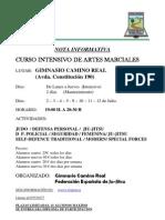Curso Intensivo de Artes Marciales Camino Real