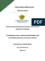 PUÑAY, UN SITIO ARQUEOLÓGICO PARA LA ETNOGÉNESIS DE LA CIENCIA Y SABIDURÍA ANDINA