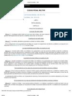 Uruguay Código Penal Militar - 1943