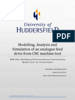 Modelling, Analysis and Simulation of an Analogue Feed Drive From CNC Machine Tool