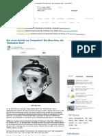 Der Erste Schritt Zur Telepathie_ Die Maschine, Die Gedanken Liest