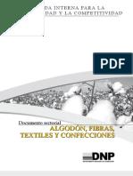Algodón, fibras, textiles y confecciones