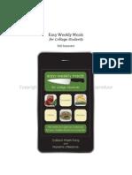 easy weekly meals prototype