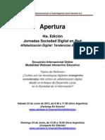 Informacion Apertura4taEdicion JSDR Junio2012