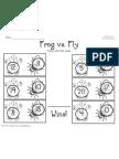 Frog vs. Fly Worksheet