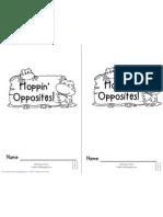 Hoppin' Opposites Emergent Reader