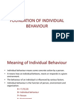 Foundation of Individual Behaviour
