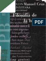 Cruz,Manuel. Filosofia de La-historia 1991