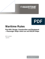 Maritime Rule, Part 40A. Design, Construction and Equipment – Passenger Ships which are not SOLAS Ships