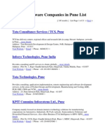 Pune IT Software Companies in Pune List