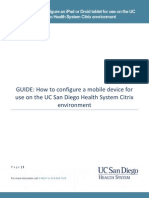 Branded-Reference Guide - How to Configure a Mobile Device for Use on the UC San Diego Health System