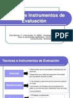 Presentacion 4 Tecnicas e Instrumentos de Evaluacion