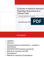 Adverse Reaction Reporting Requirements for Clinical Trials - Clare Brennan