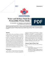 Water and Oil Base Fluid Retention in Low Permeability Porous