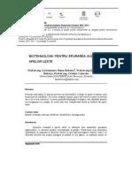 Biotehnologii Pentru Epurarea Avansata a Apelor Uzate