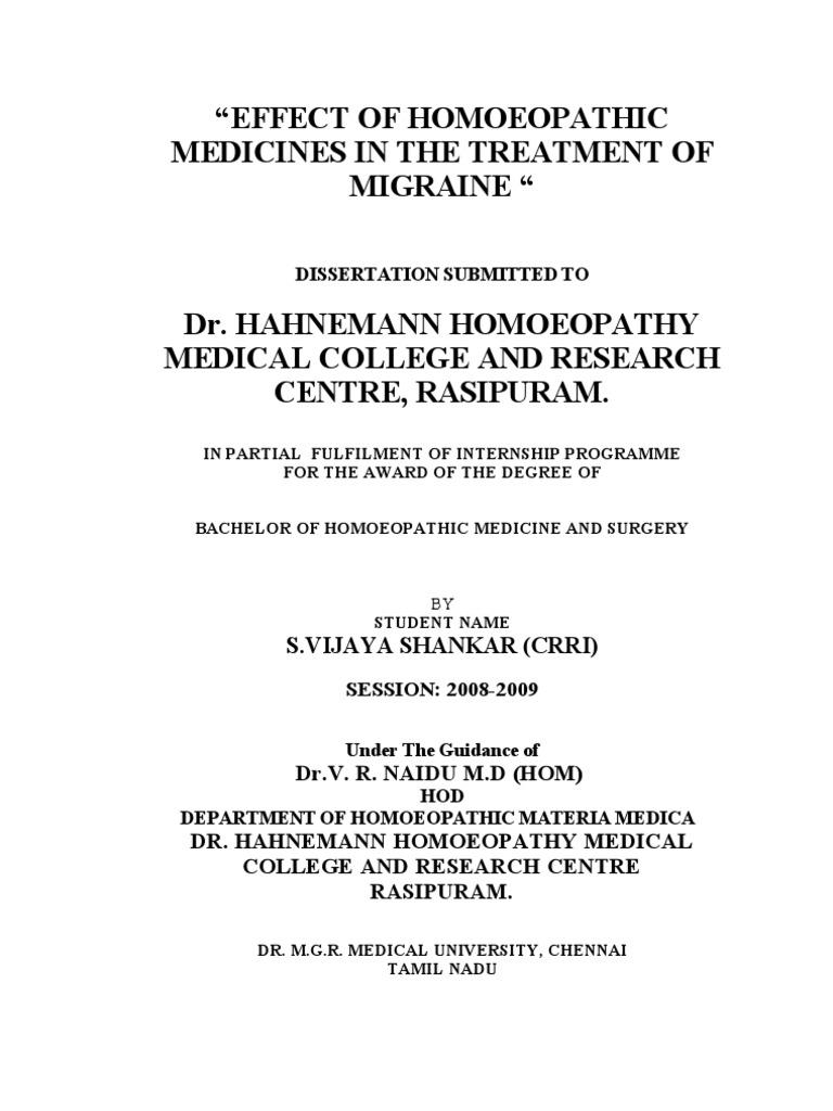 migraine thesis final migraine