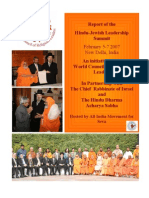 1st Hindu Jewish Summit Report
