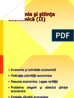 Economia și știința Economică (II)