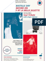Celebrate Bastille Day the night before on the 13th July at La Belle Juliette
