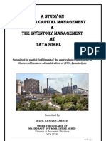 Project Reprot on Working Capital & Inventory Management at TATA STEEL