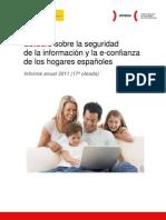 Estudio sobre la seguridad de la información y la e-confianza de los hogares españoles (informe anual 2011)