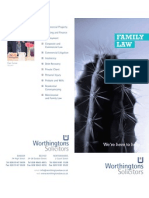 Worthingtons Solicitors Belfast - Family Law Leaflet 2012