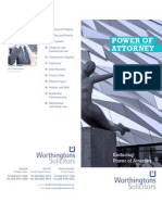 Worthingtons Solicitors Belfast - Power of Attorney Leaflet 2012