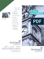 Worthingtons Solicitors Belfast - Wills & Estate Leaflet 2012