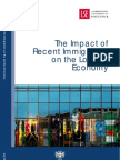 The Impact of Recent Immigration on the London Economy, LSE, 2007