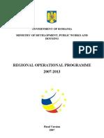 Regional Operational Programme-Romania 2007-2013- Version2007