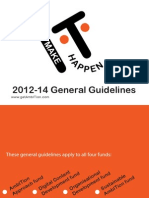 General Guidelines - Make:IT:Happen Fund