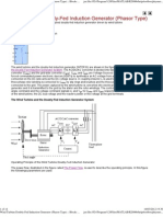 Wind Turbine Doubly-Fed Induction Generator (Phasor Type)