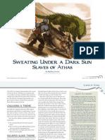 Dragon 390 Slaves of Athas